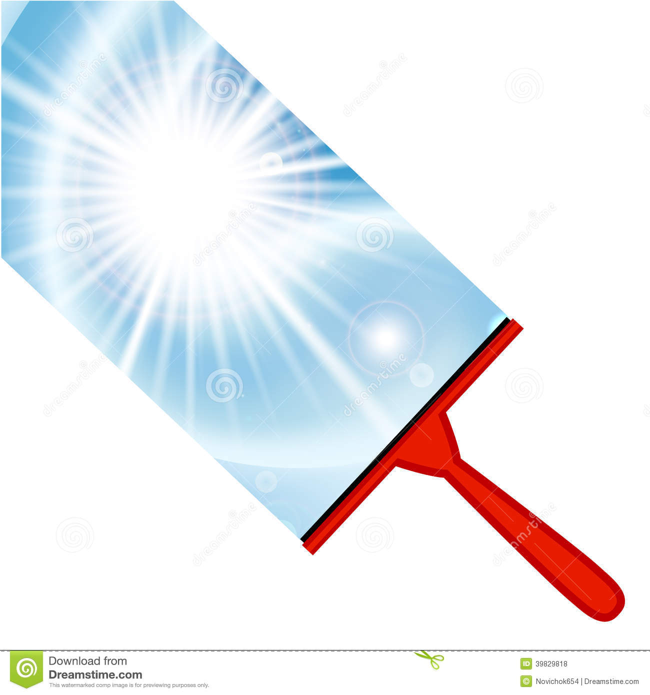 Window Cleaning Background With Squeegee Stock Vector