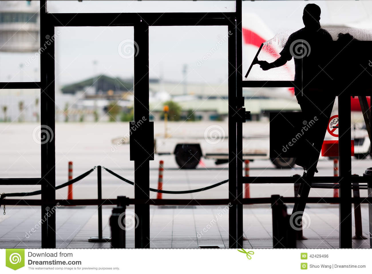 Window Cleaning Stock Photo Image 42429496
