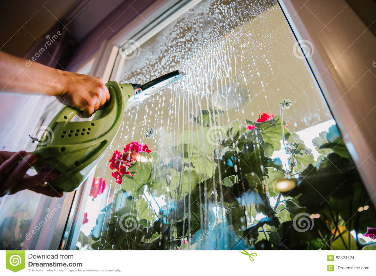 Window cleaning at home