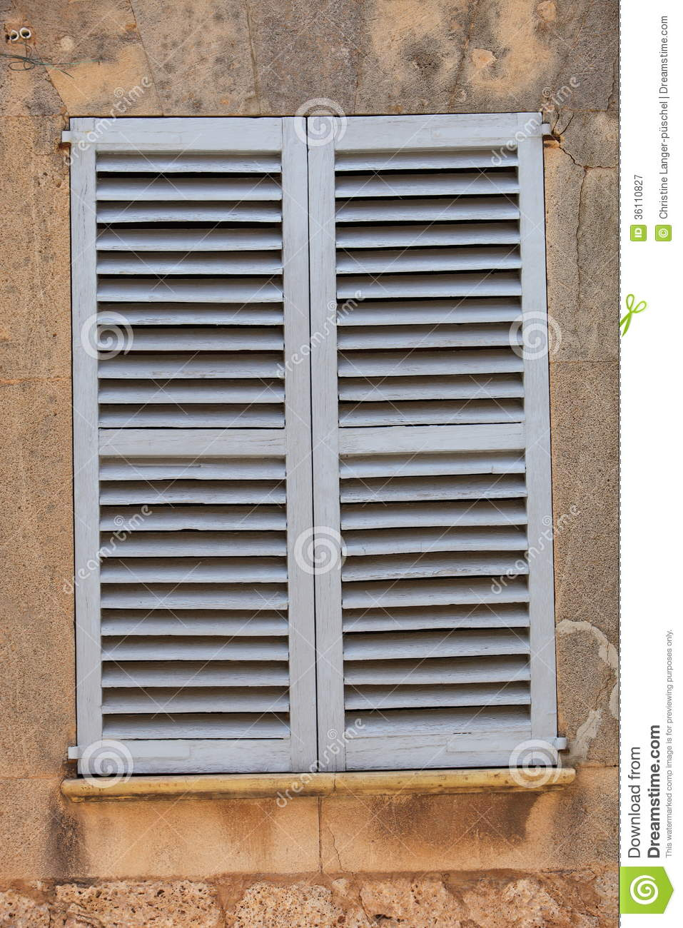 Window with closed wooden shutters stock image image - Exterior wooden shutters for windows ...