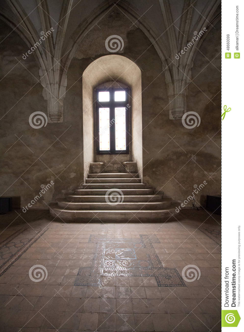 window in corvin castle romania stock photo image 48660099. Black Bedroom Furniture Sets. Home Design Ideas