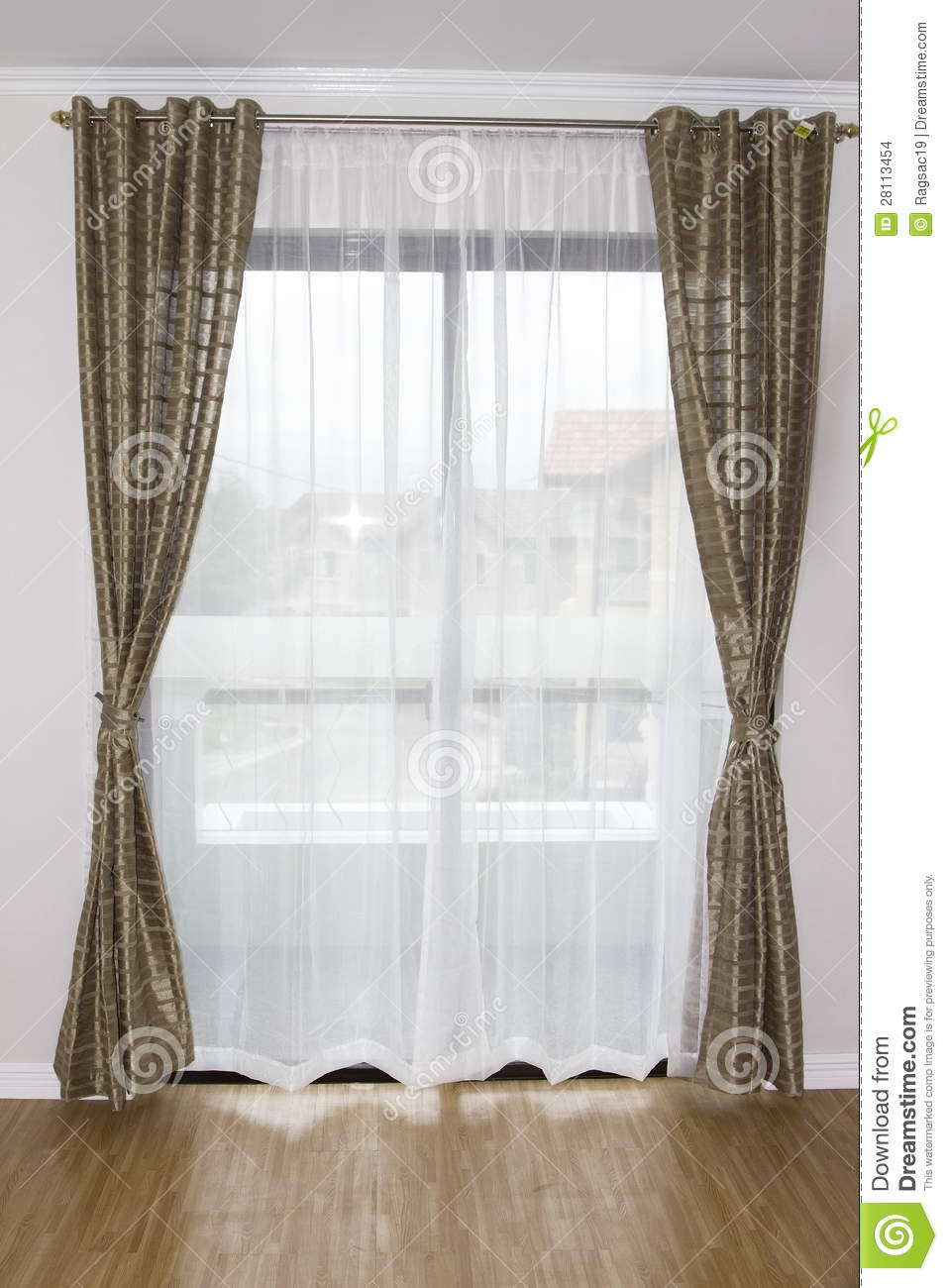 Window Curtain Stock Images Image 28113454