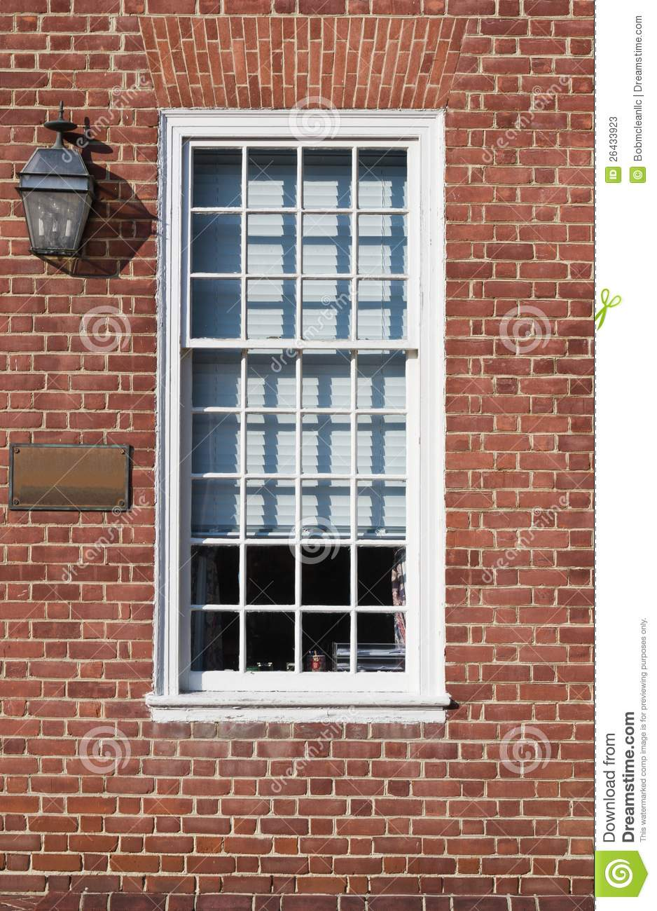 Window And Flat Arch Brickwork Stock Image Image Of