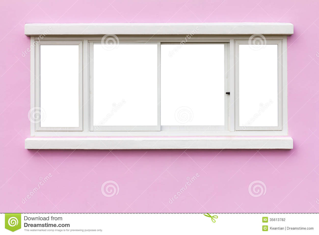 Window frame wall pink stock photo. Image of grunge, concrete - 35613782