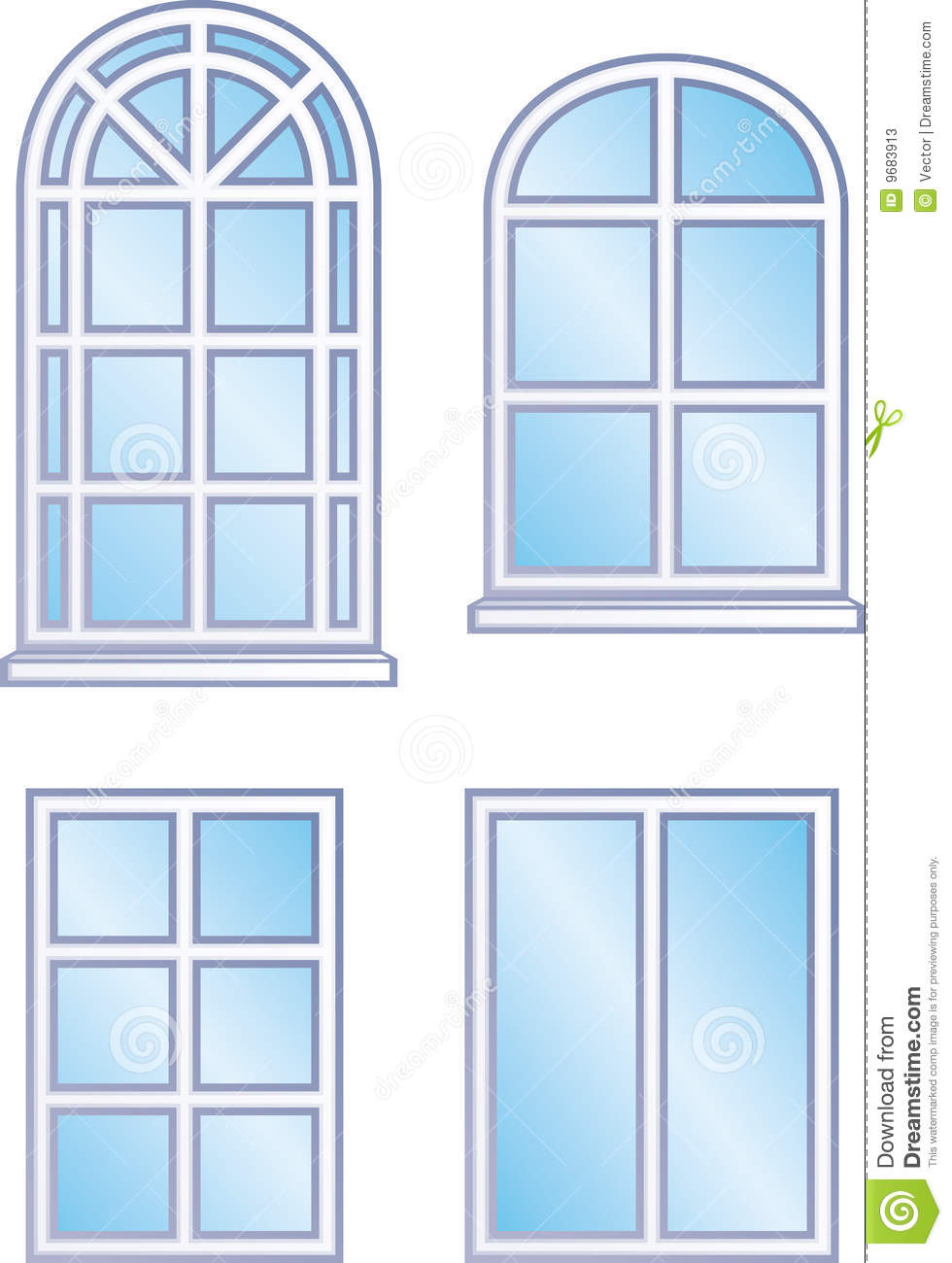 Window frames (Vector) stock vector. Illustration of glass - 9683913