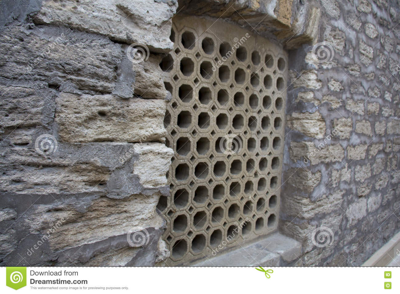 Window Grill Design Of An Old Middle Eastern Architecture Stock
