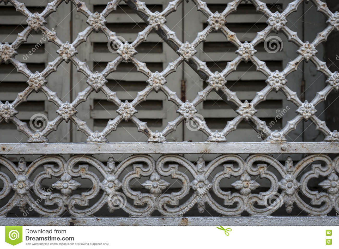 Window grill in toulouse stock photo image 76336825 for Window grill design catalogue 2016