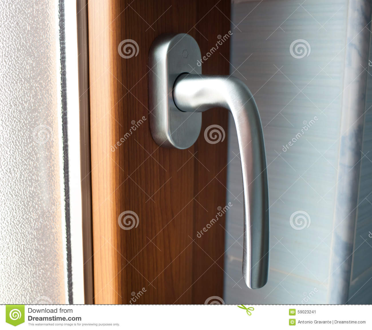 Window Handle With Faux Wood Frame Stock Image - Image of decor ...