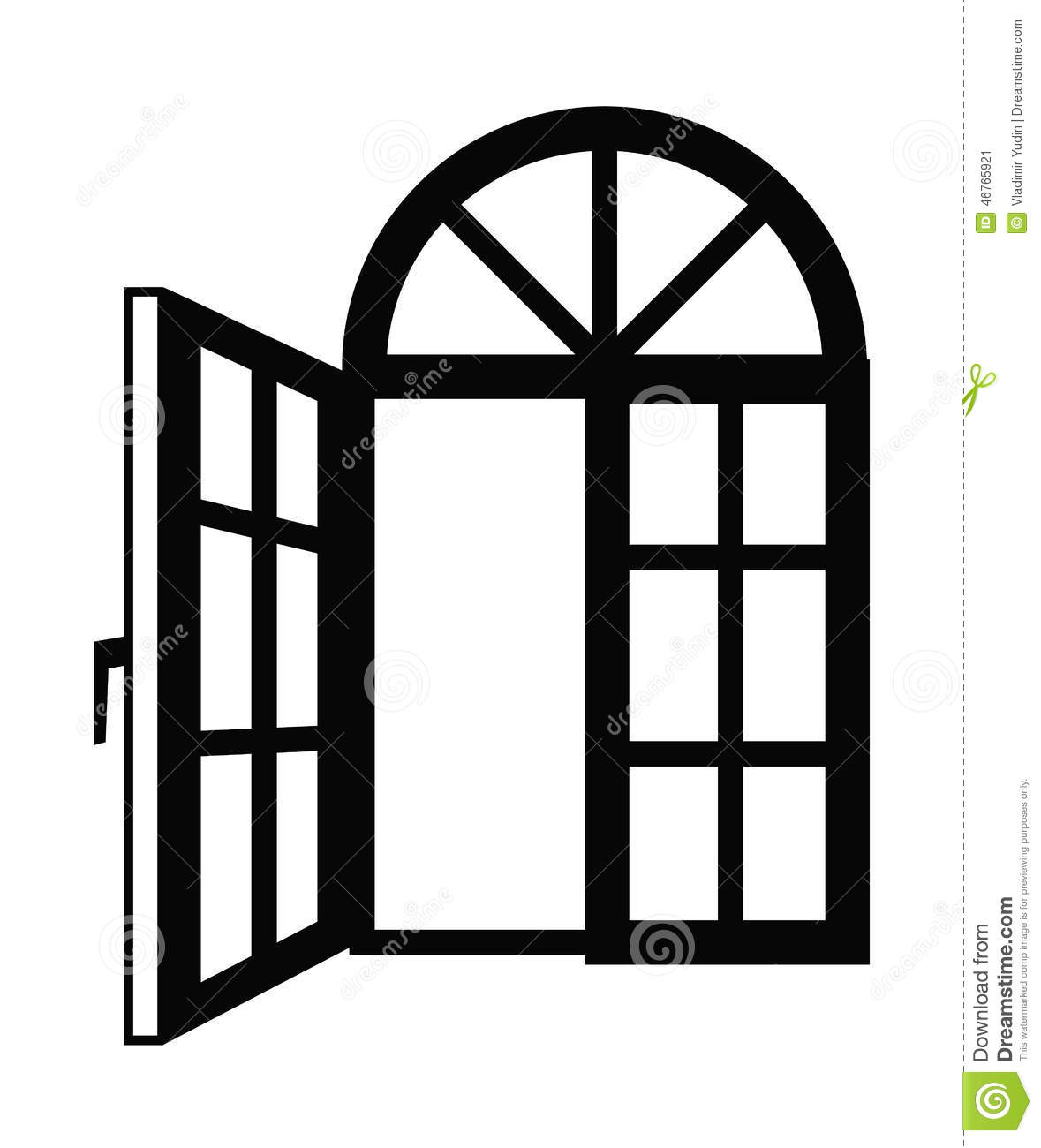 Window Icon Stock Vector Illustration Of Silhouette