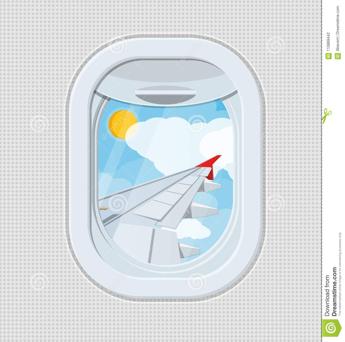 Window From Inside The Airplane Stock Vector Illustration Of Wing Diagram