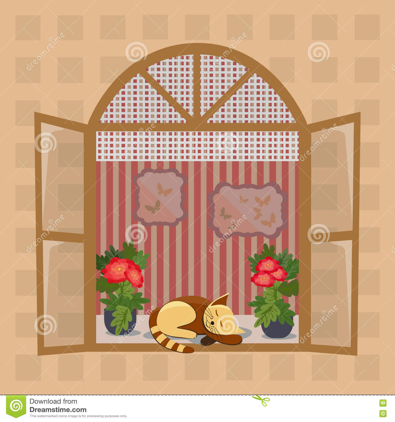 Window inside view stock illustration. Illustration of architecture ... for Inside Window Clipart  173lyp
