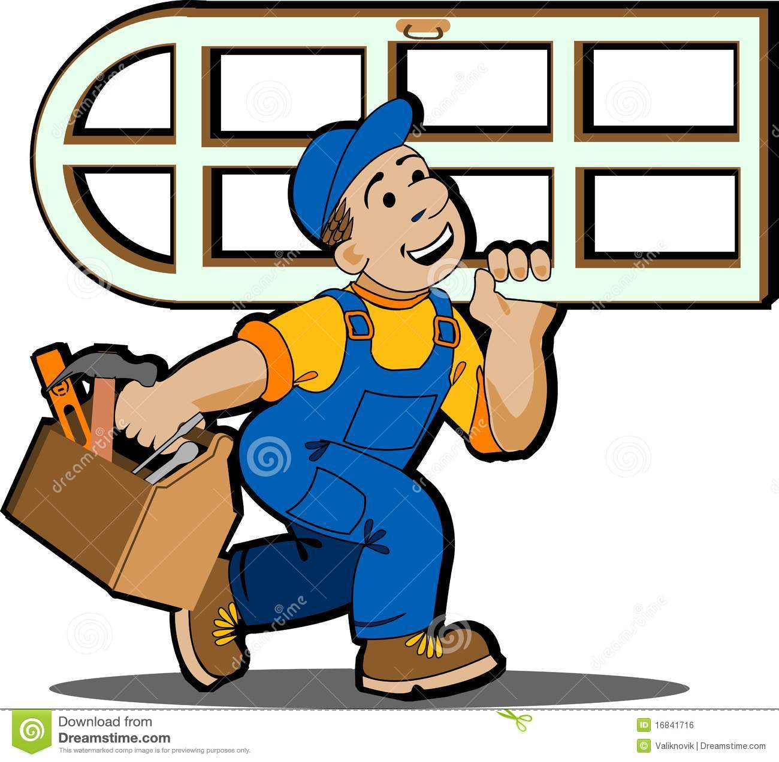 Window installer  stock vector  Illustration of industrial - 16841716
