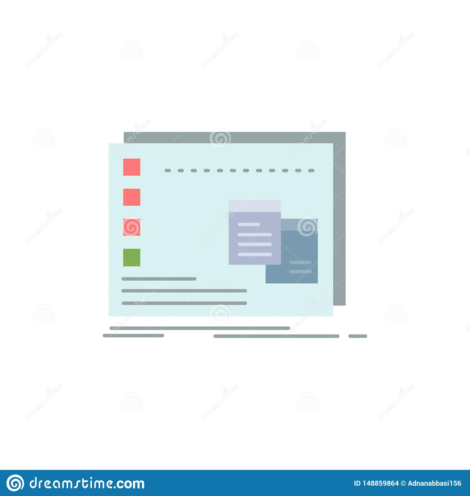 Window Mac Operational Os Program Flat Color Icon Vector Stock Vector Illustration Of Platform Program 148859864