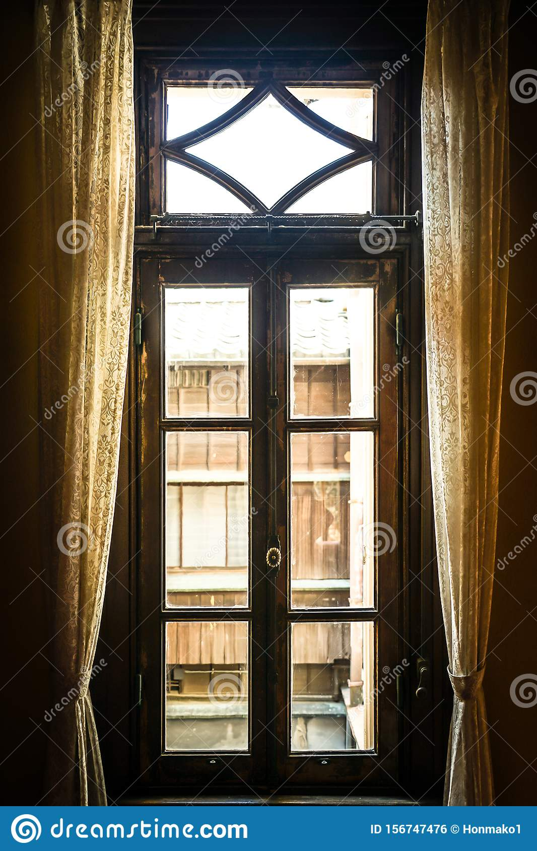 The window of the mansion