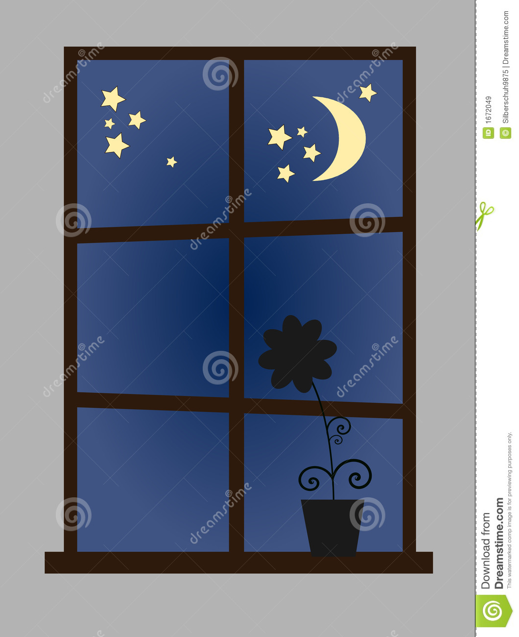 Room Design App For Windows Window At Night Time Royalty Free Stock Images Image