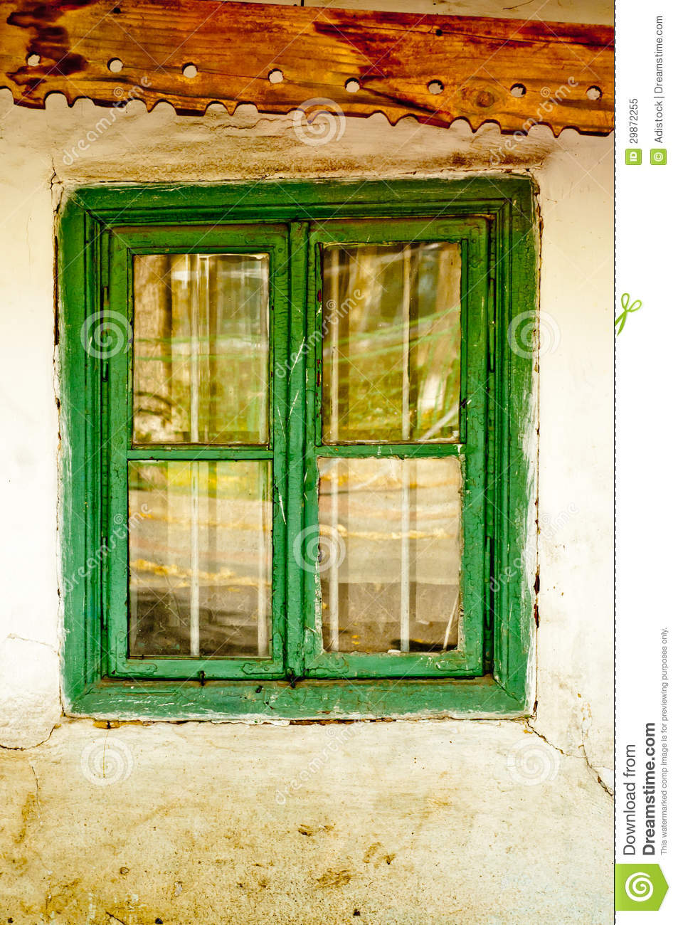 Old House Window Stock Image Image Of Glass Grunge