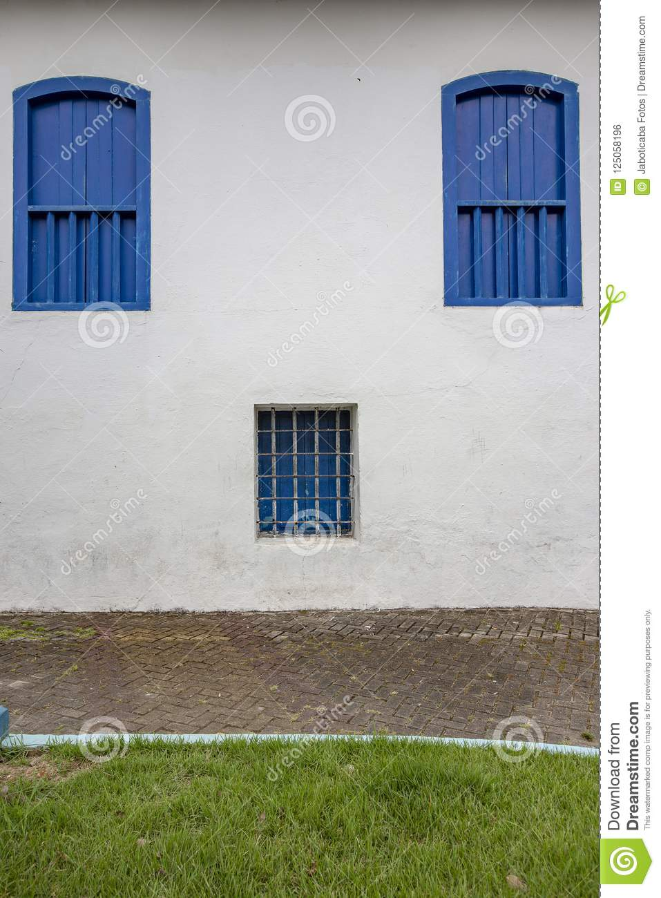 Window Old Jail From The Time Of Colonial Brazil Stock Photo - Image ...