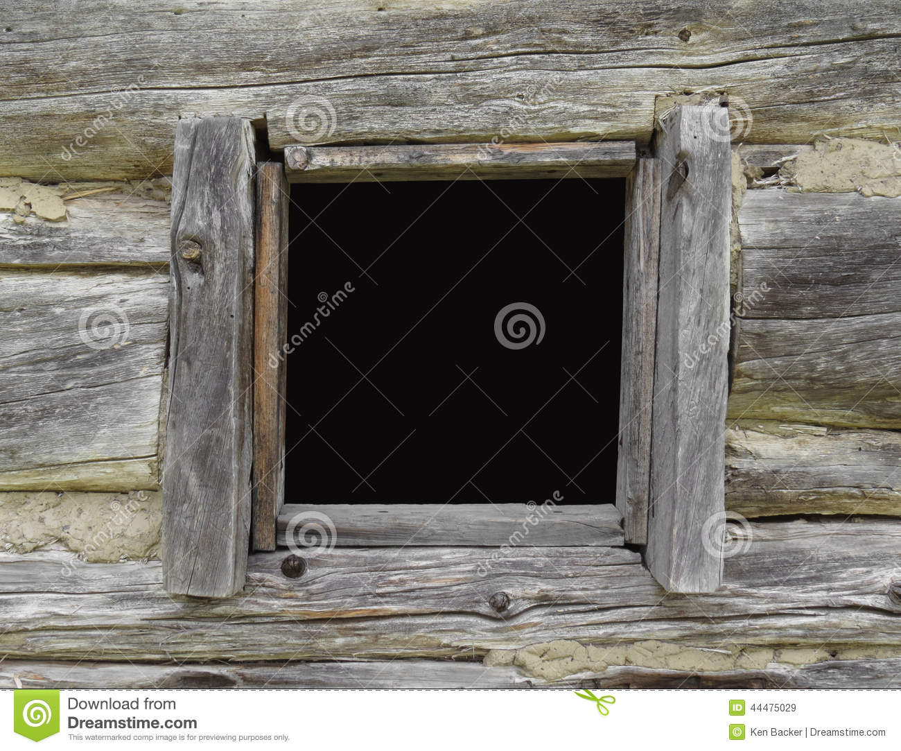 Window in an old log cabin stock photo image 44475029 for Log cabin window