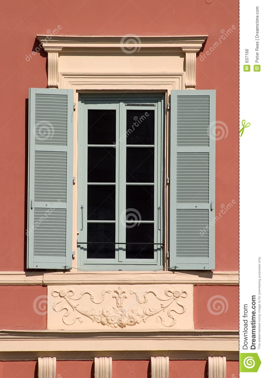 Window With Open Shutters Stock Photo Image Of
