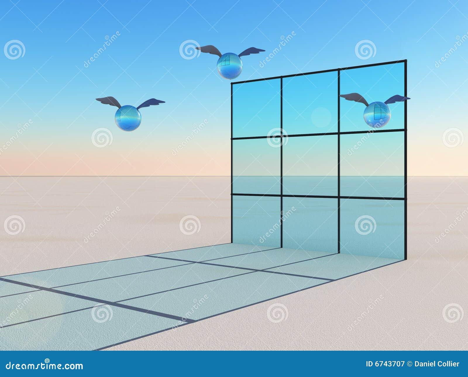 Window of opportunity in flight royalty free stock for Window of opportunity