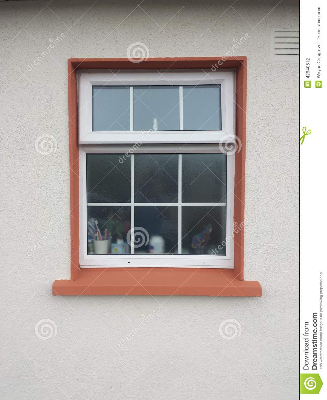 Window stock photo image of outside bathroom view - How to install a bathroom window ...