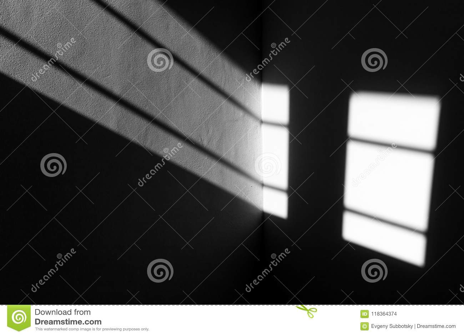 Light beam window shades geometrical lines texture.