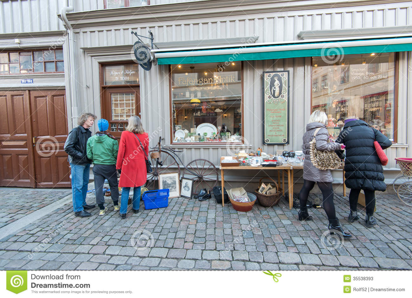 Window Shopping In Gothenburg Sweden Editorial Stock