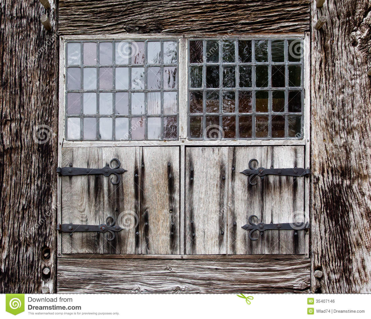 Window Shutters A Farmhouse Royalty Free Stock Image Image