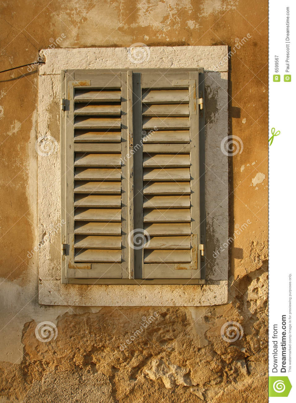 Window Shutters On Old House Royalty Free Stock