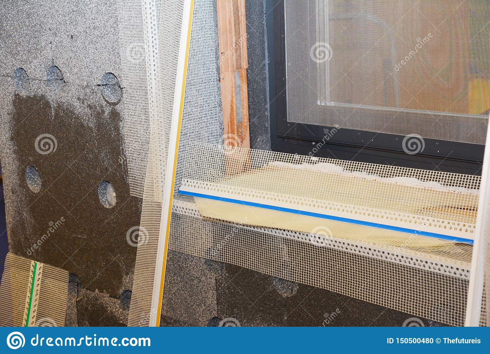Window Sill Corner Contruction With Foam Insulation