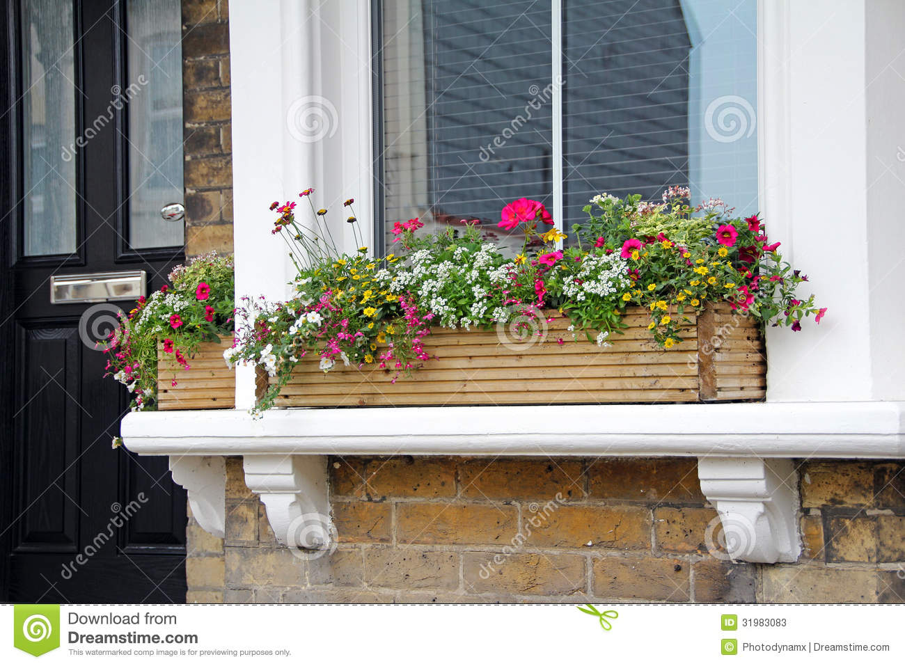 Window Sill Flower Box Stock Image Image Of Growing