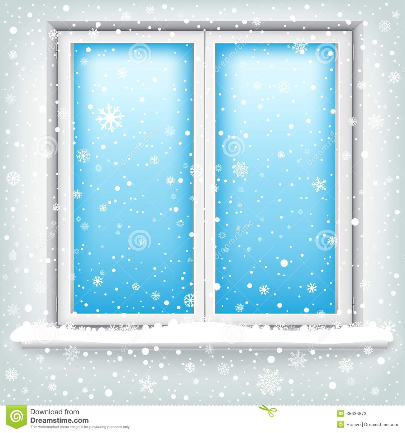 Window and snow stock photos image 35636873 for Window plastic