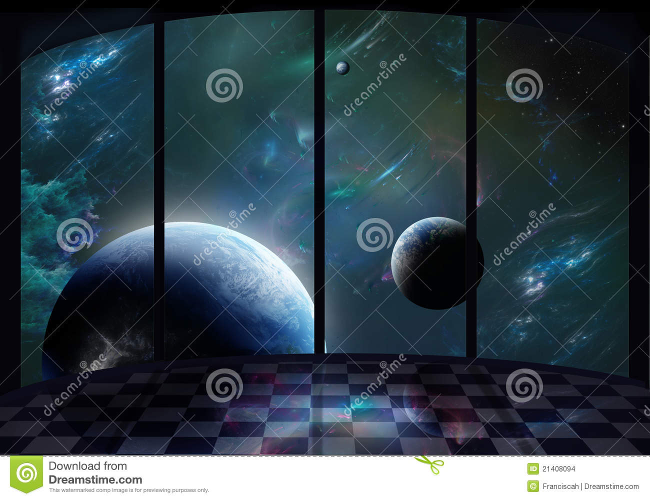 Window To The Space Stock Images - Image: 21408094