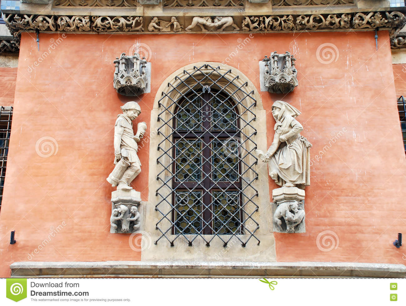 Details Of Gothic Architecture Breslau In Poland Royalty