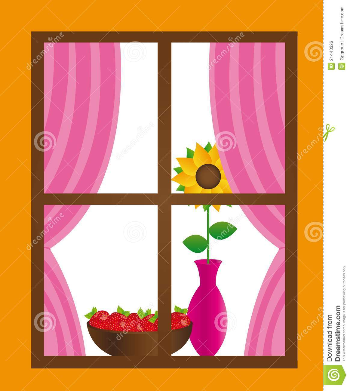 Kitchen Window Clip Art: Window Vector Stock Vector. Illustration Of Isolated