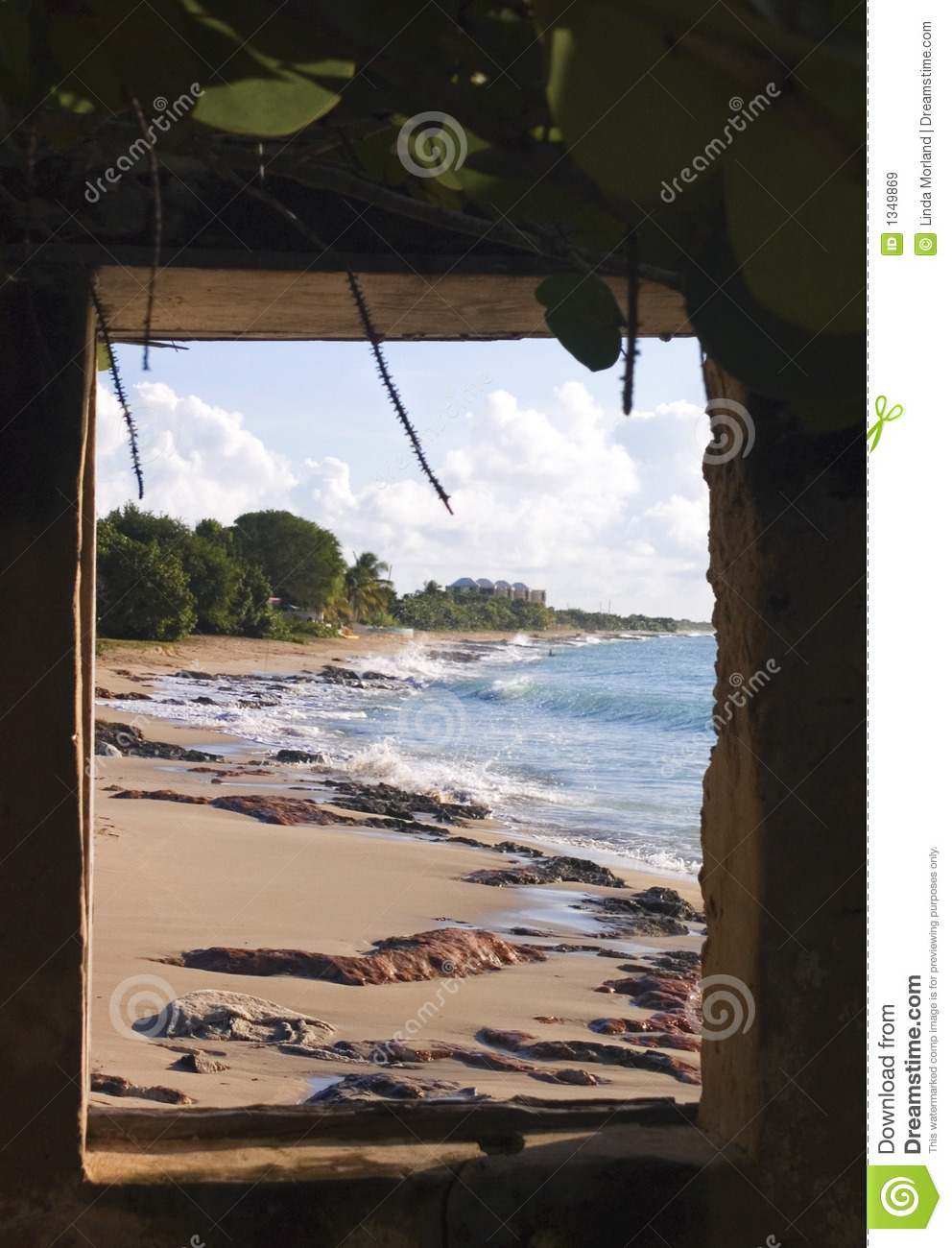 Window View Of Beach Royalty Free Stock Images Image
