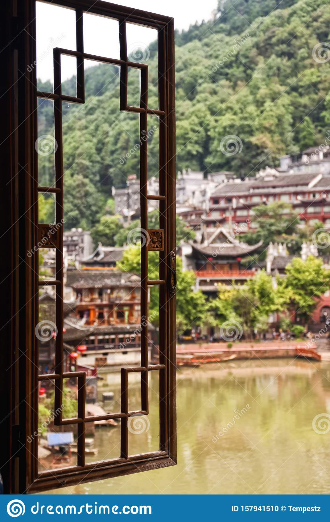 Window view of Fenghuang Village