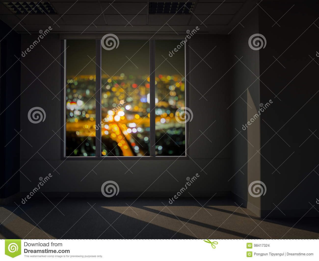 Window View At Night Stock Photo Image Of Hotel Beautiful 98417324