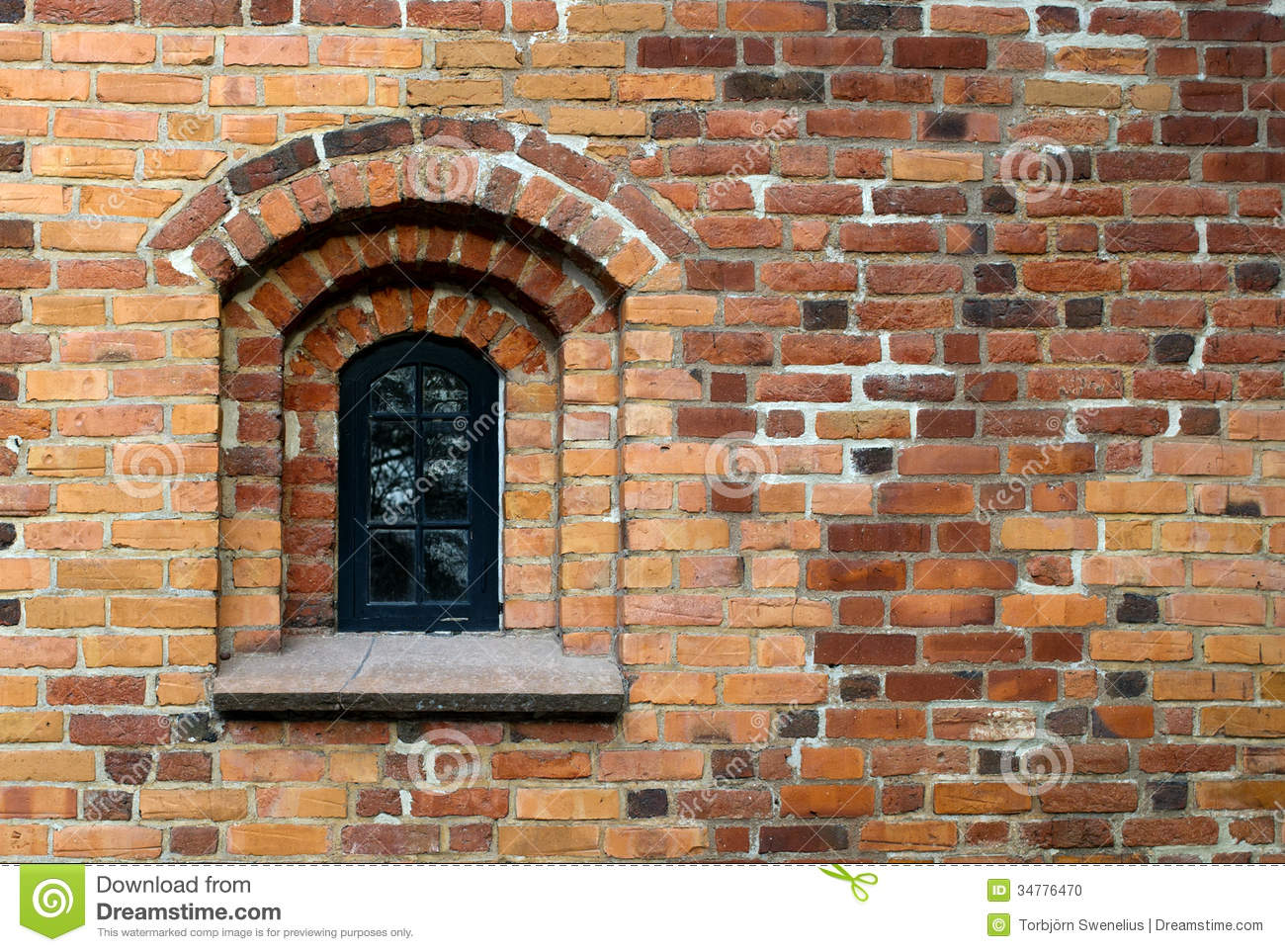 Window In The Wall Stock Photo Image Of Brick Frame