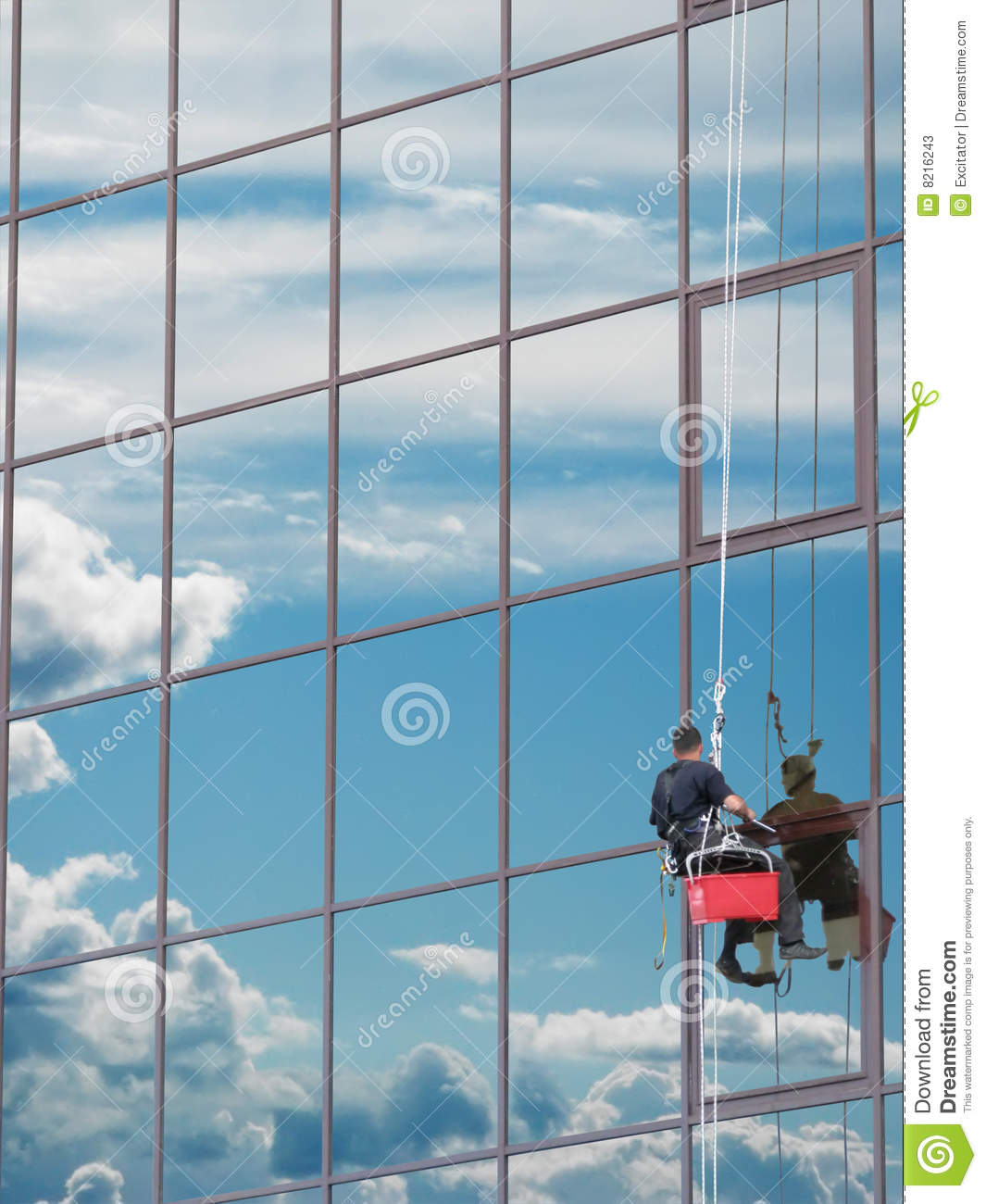 Window Washer Stock Photos Image 8216243