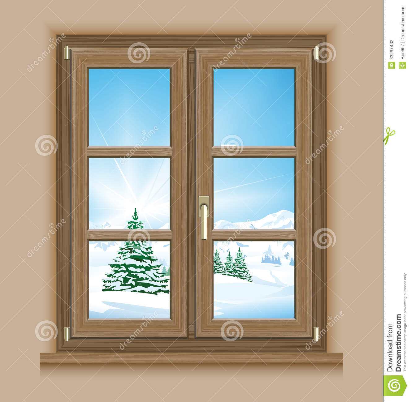 Window winter scene stock photo. Image of wintry, window - 33267432 for Outside Window Clipart  146hul