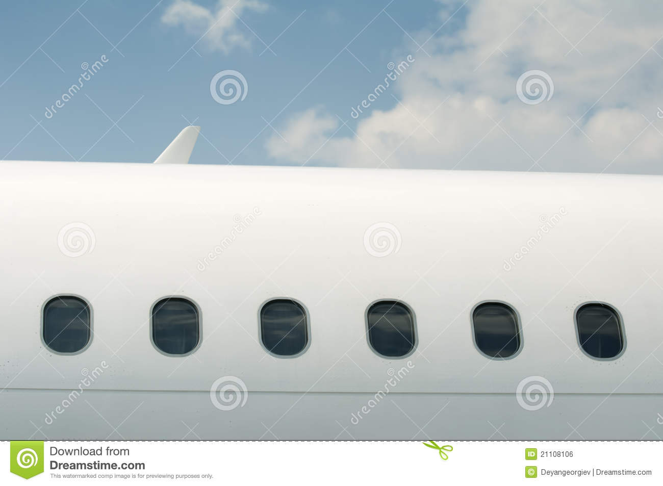 Windows Of An Airplane Outside Stock Photo Image Of