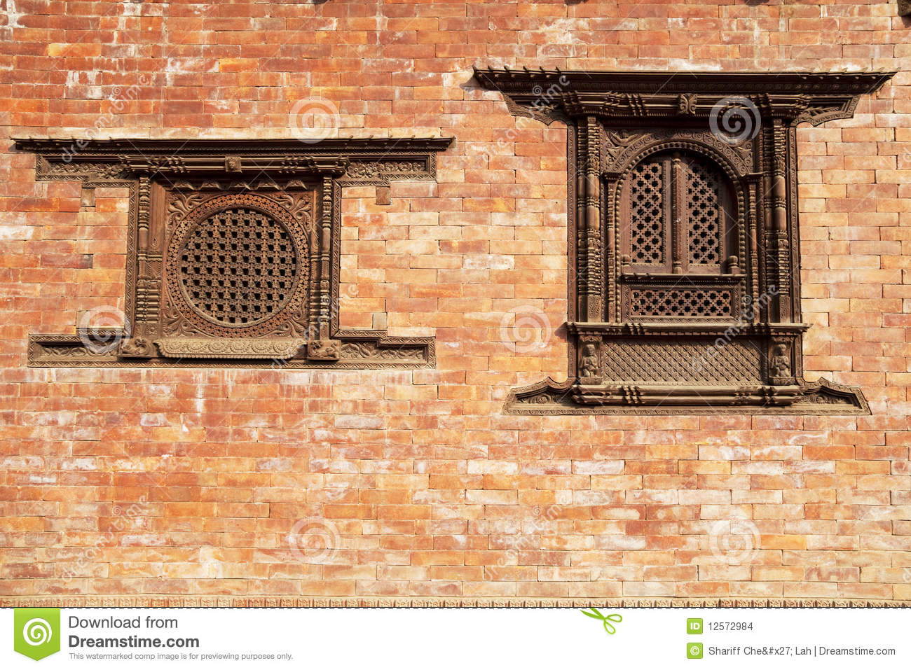 Windows bhaktapur nepal stock images image 12572984 for Window design in nepal