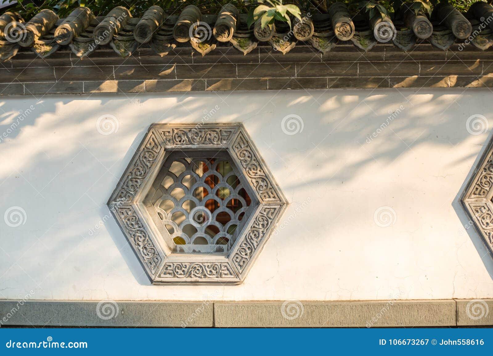 Windows de construção antigo chinês