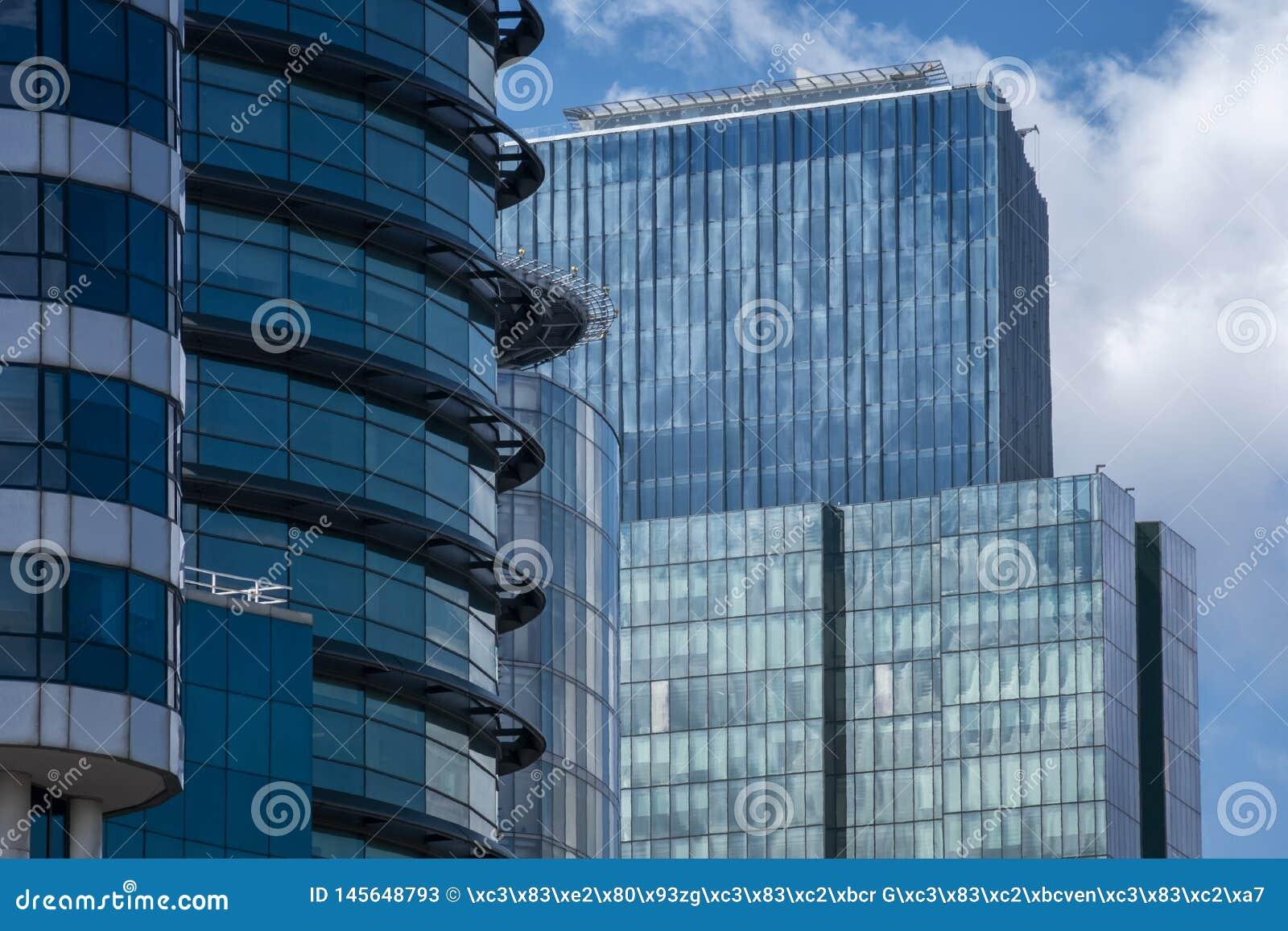 Windows de cristal de rascacielos