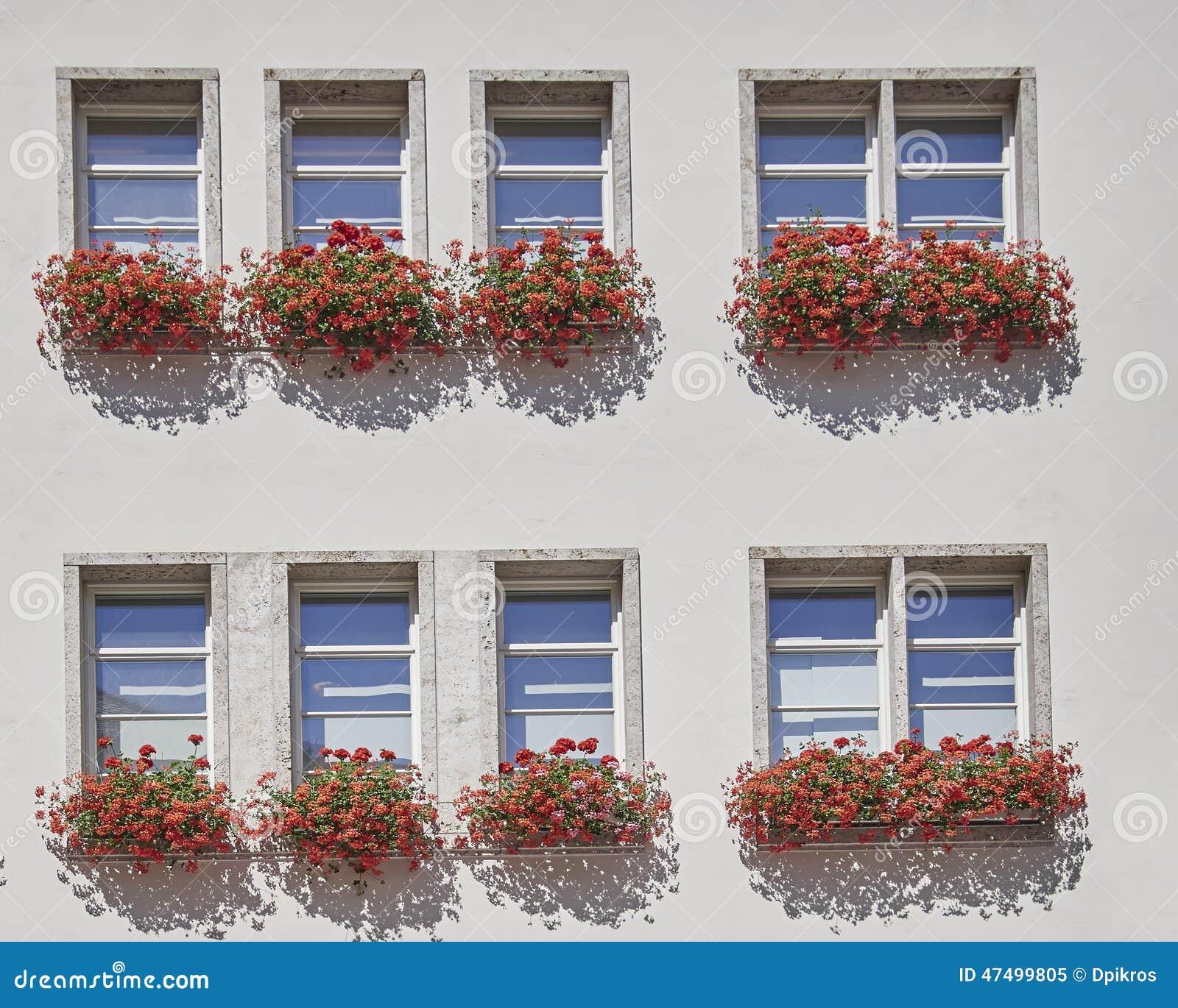 Windows de un edificio de oficinas, Munchen, Alemania