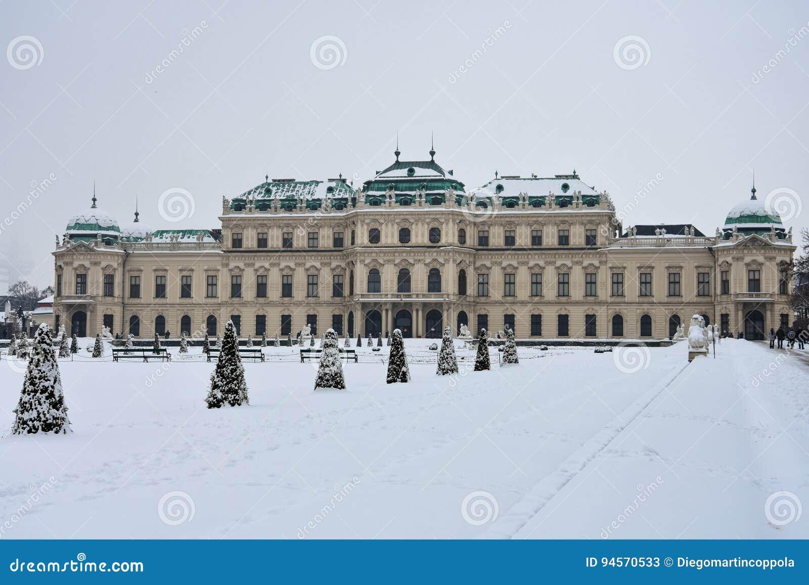 Windows del palazzo superiore di belvedere