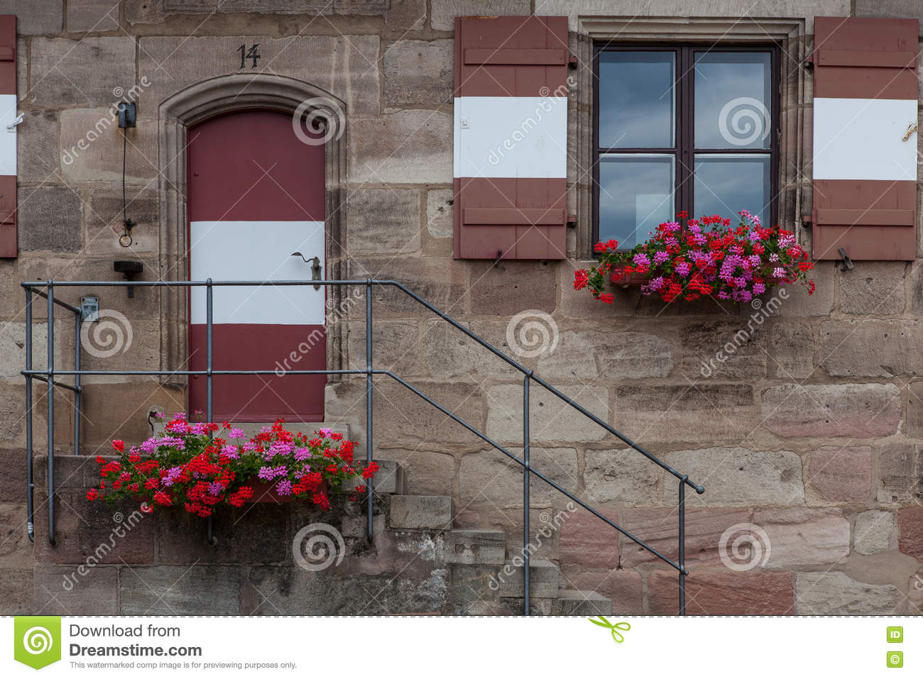 Windows and doors in the old European style