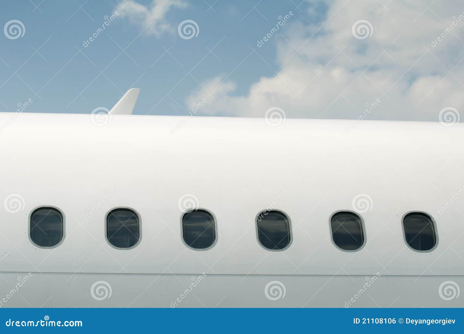 Windows eines Flugzeuges draußen