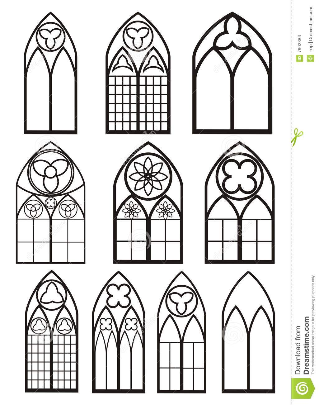 Download Windows In Gothic Style Stock Vector Illustration Of Silhouette